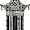 Art Deco Platinum, Diamond Tower Brooch, <b>ca</b>.<b>1925</b>