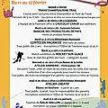 Programme des animation du 11 au 17 février 2017