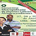 Rencontre de jeunes leaders afropéruviens à lima
