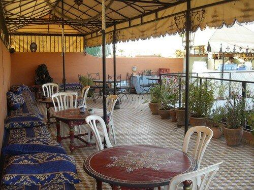 Terrasse de l'hotel, Marrakech