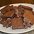 un brownie aux couleurs de noel