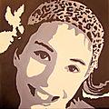 Portrait noir et blanc de ma doudou
