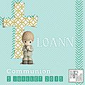Carte cadeau 'communion loann'...