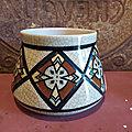 Vase <b>Céramique</b> Craquelée Art déco A.M.C Belgium AMC