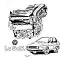 Volkswagen golf - la puissance et la gloire
