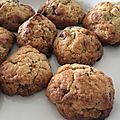 Biscuits aux chunks trois chocolats