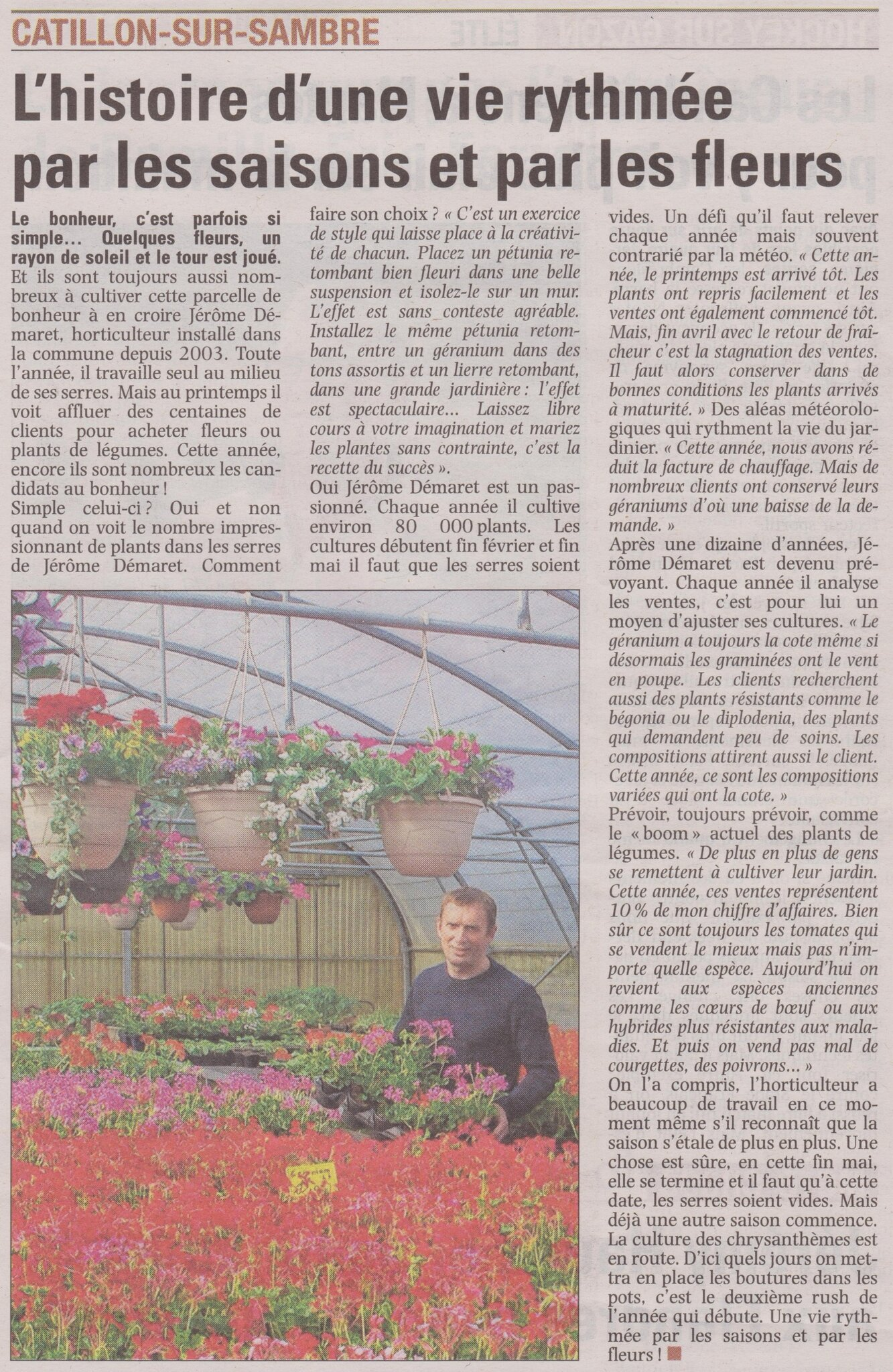 Jerome Demaret Article de La Voix du Nord du samedi 24 mai 2014