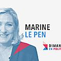 DIMANCHE EN POLITIQUE SUR FRANCE 3 N°137 : MARINE LE PEN