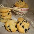 Cookies salés aux olives noires, parmesan et thym