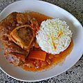 Osso bucco et son riz au safran