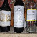 Pessac-Léognan : Haut-Brion 2002, Pauillac : Mouton Rothschild 2002, et <b>Sauternes</b> : Clos Haut Peyraguey 2010