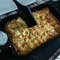 Gratin de ravioles au saumon fumé et à la courgette