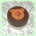 Cane ourson double fond chocolat