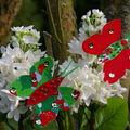 papillons en tissu et carton