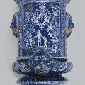 A Nevers <b>faience</b> 'bleu persan' water fountain, circa 1670-1680