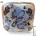BAG153 - Bague ethnique imitation <b>abalone</b> en argile polymère nacrée