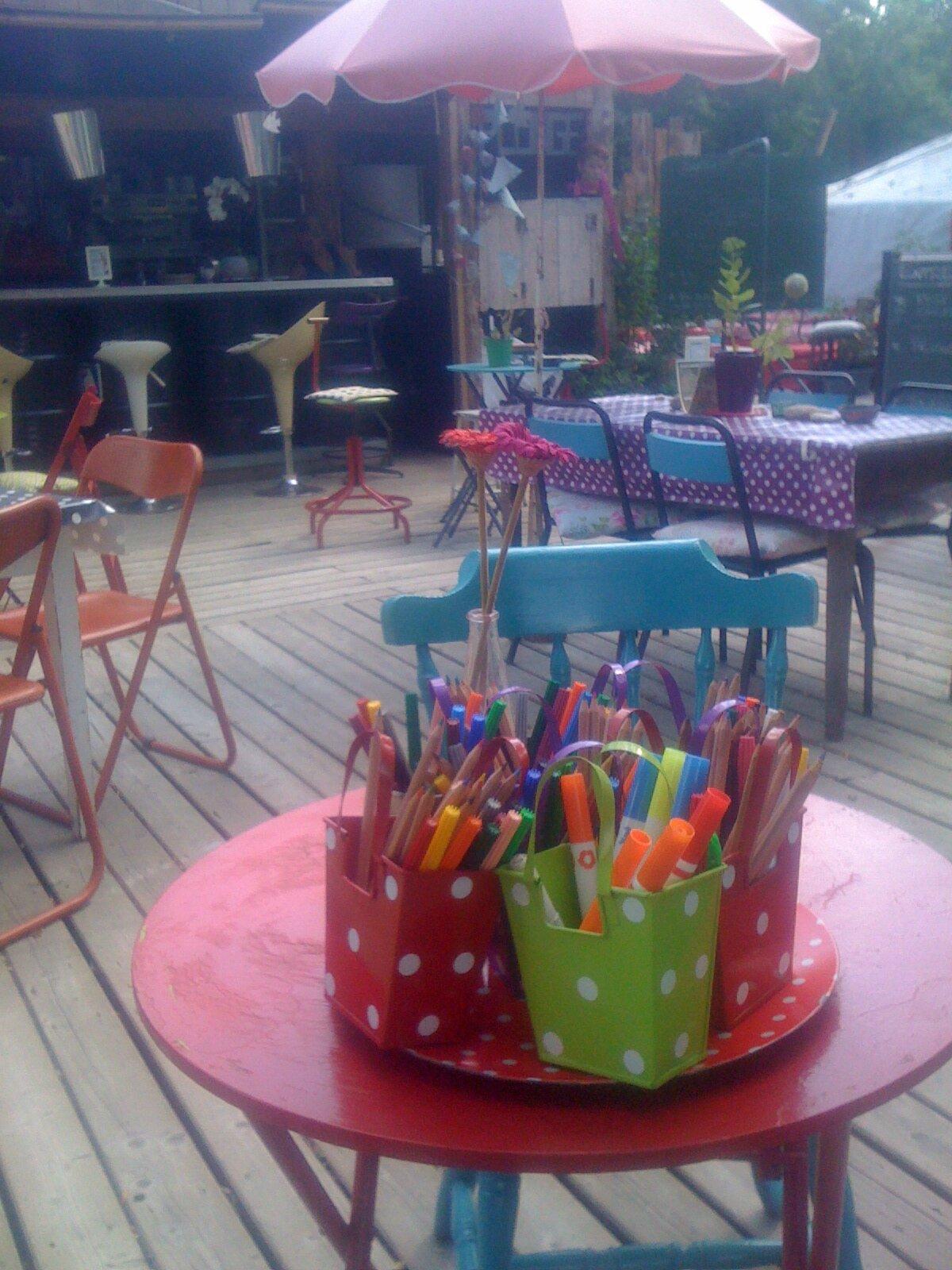 pots à crayon, dessiner sur les sets de table en craft
