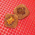 Fondant chocolat caramel coeur de snickers