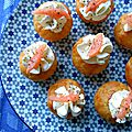 Mini cupcakes au saumon fumé