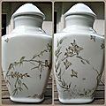 Peinture sur porcelaine :un pied de lampe de style japonais
