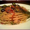 Spaghettis aux légumes