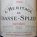 Château chasse-spleen - l'héritage de chasse-spleen 2003