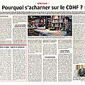 Le cdhf se meurt.... fermeture le 30 juillet.... rouvrira t'il ? voir pétition