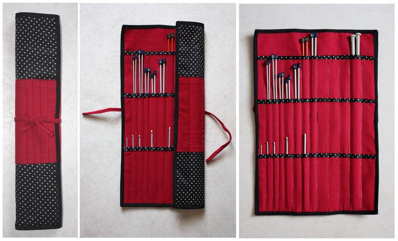 Ranger 2 tuto de la pochette pour aiguilles tricoter for Aiguille a couture