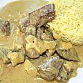 Curry de coeur de boeuf au lait de coco