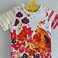 Tee-shirt en coton coloré et rayé Catimini - 18 Mois