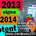 Campagne « <b>Droit</b> de <b>vote</b> 2014 » : Mode d'emploi