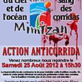 Manifestation anticorrida à mimizan le 25/08/2012