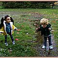 Les enfants terribles sous la pluie ! the problem children in the rain !