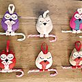 Christmas sugary owls / hiboux sucrés de noël