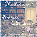Challenge 1% <b>Rentrée</b> <b>Littéraire</b> 2014 - Le bilan