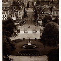 Jardins de l'hôtel de ville et rue de paris