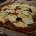 Pizza au chou fleur