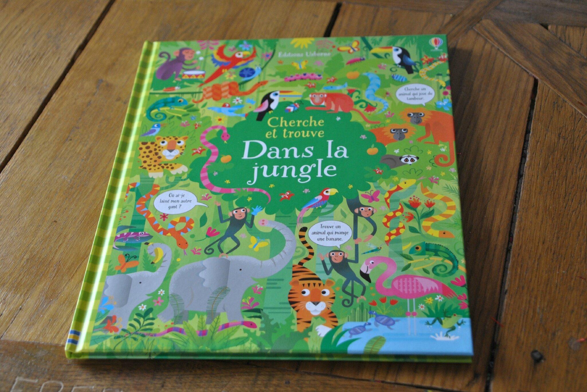 """Cherche et trouve """"Dans la Jungle"""" des Éditions Usborne"""