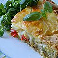 Tarte aux légumes et au fromage à raclette