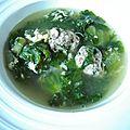 Soupe scarole aux boulettes de viandes