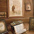 Les tableaux et livres objets de Chantal Bossard
