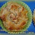 Muffins poire, noix, gorgonzola