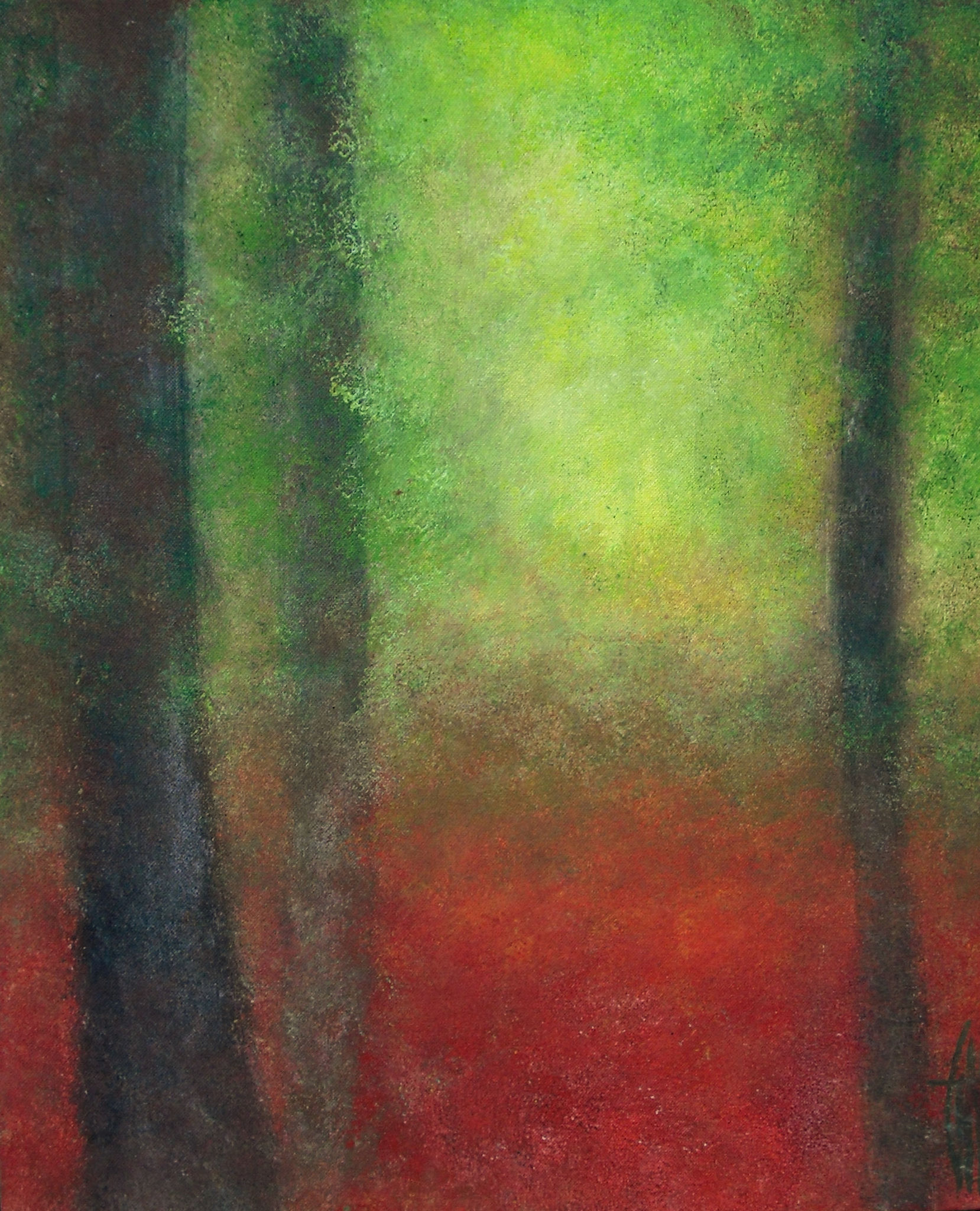 Abstract forest - carte postale