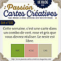 <b>carte</b> PASSION <b>CARTES</b> CREATIVES défi 535