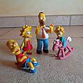Cu1345 : Figurines <b>Simpsons</b>