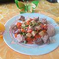Sauté de porc à l'ananas et ses petits légumes