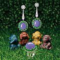 <b>Fine</b> <b>Lavender</b> <b>Jadeite</b>, <b>Jadeite</b> and Diamond Ring; and Pair of Matching Pendent Earrings