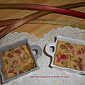 Clafoutis rhubarbe, vergeoise et <b>rhum</b>