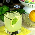 Le cocktail du jour: lemon basil margarita