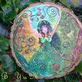 Plaque d' autel roue de l année
